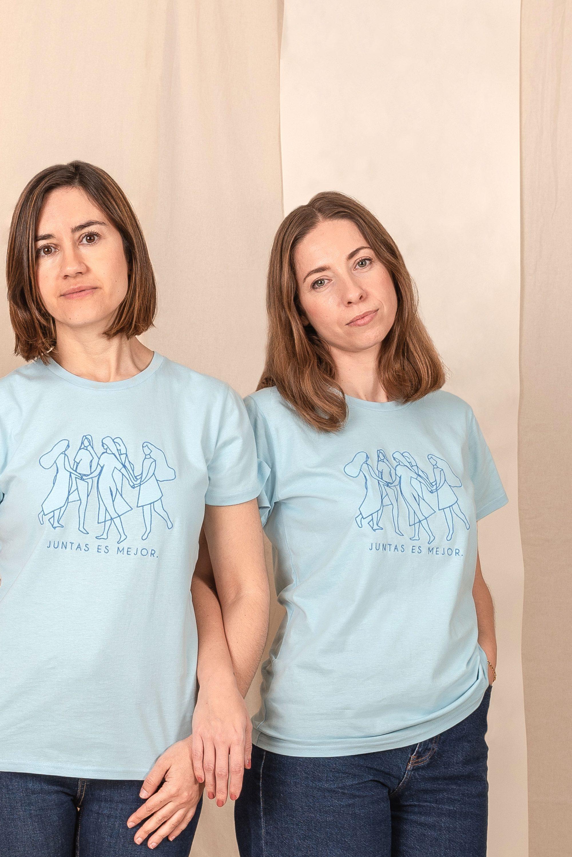 Camiseta Algodón Orgánico Azul Juntasesmejor
