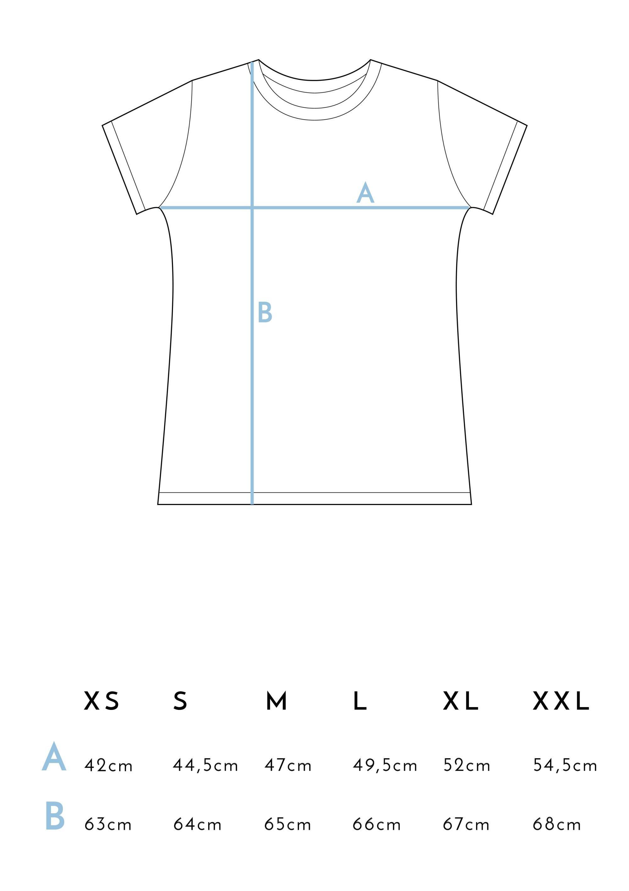Medidas Camisetas Juntas es mejor Azul