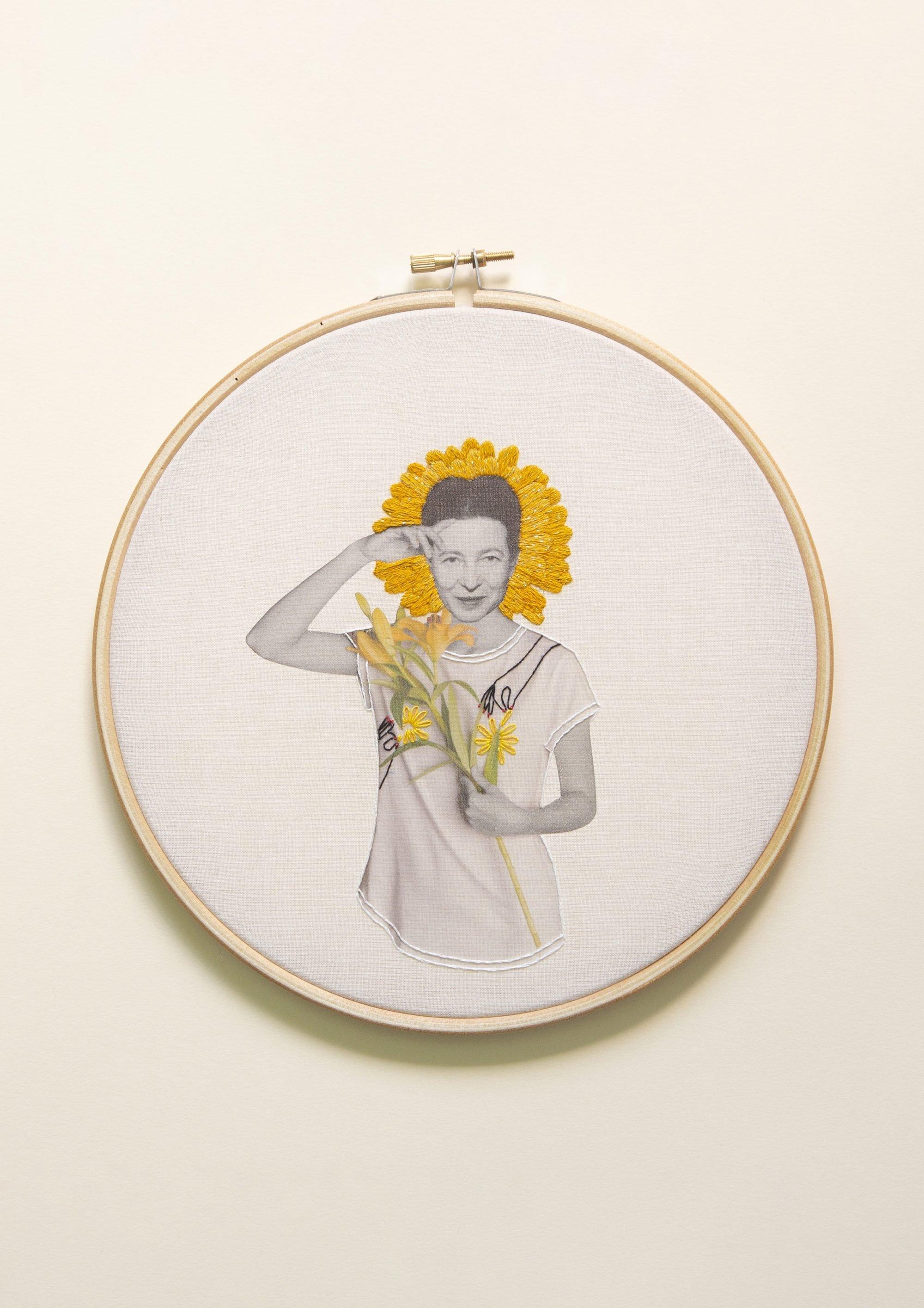 Simone de Beauvoir Collage Studio Variopinto Crisálida1