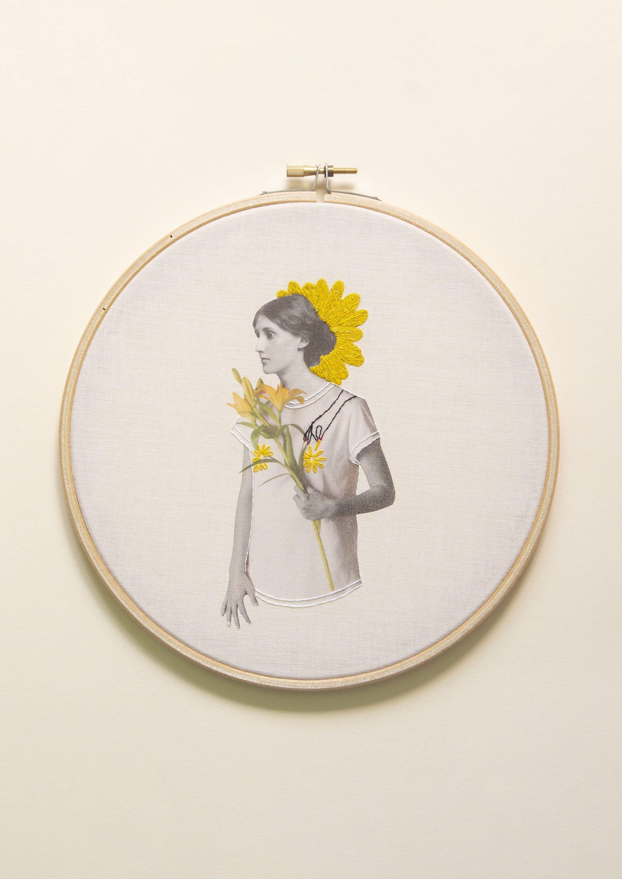 Virginia Woolf Collage Studio Variopinto Crisálida1