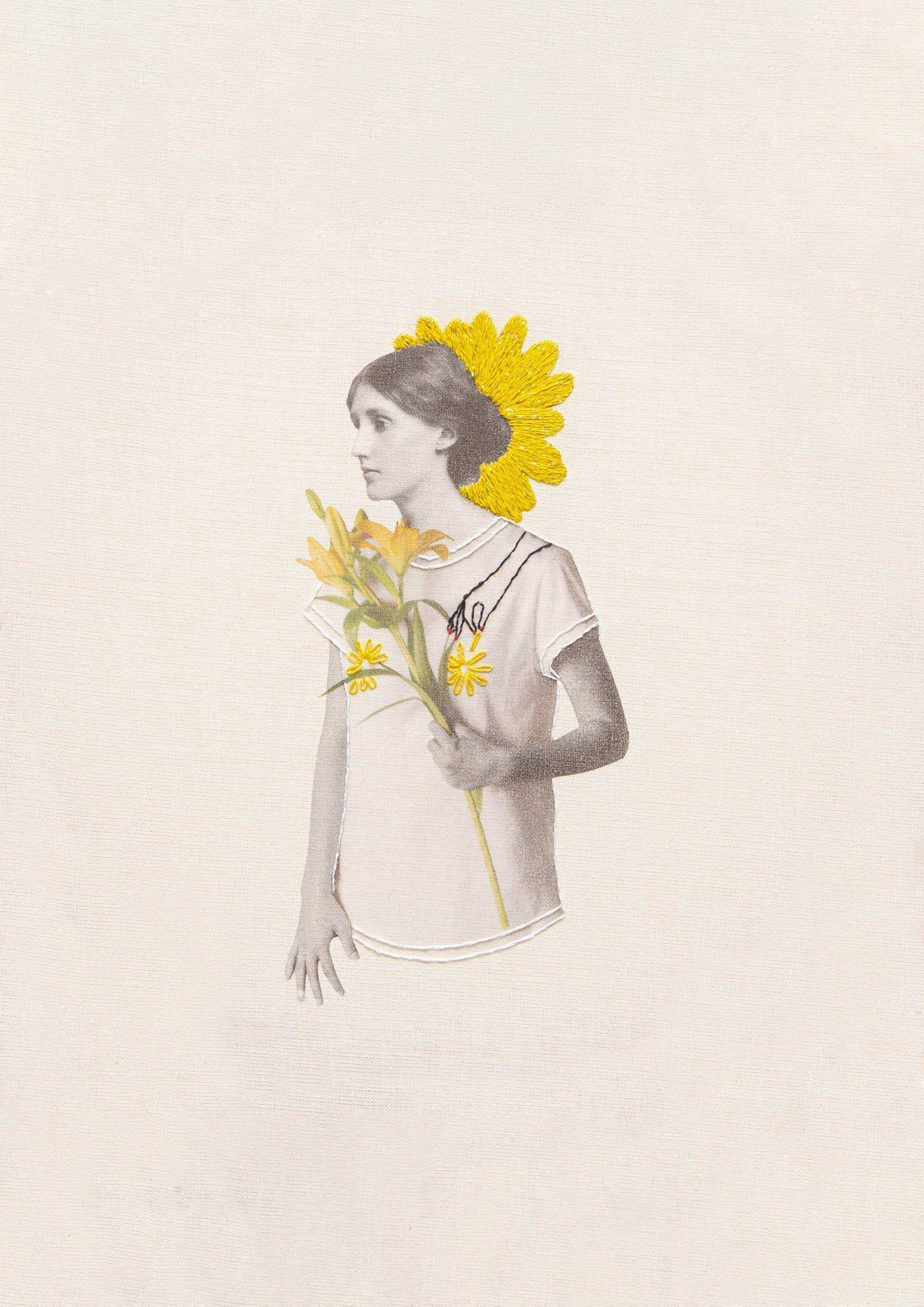Virginia Woolf Collage Studio Variopinto Crisálida2